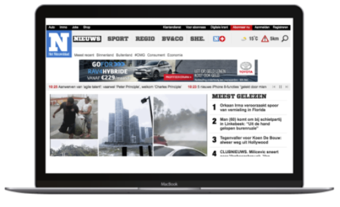 Scherm display advertising