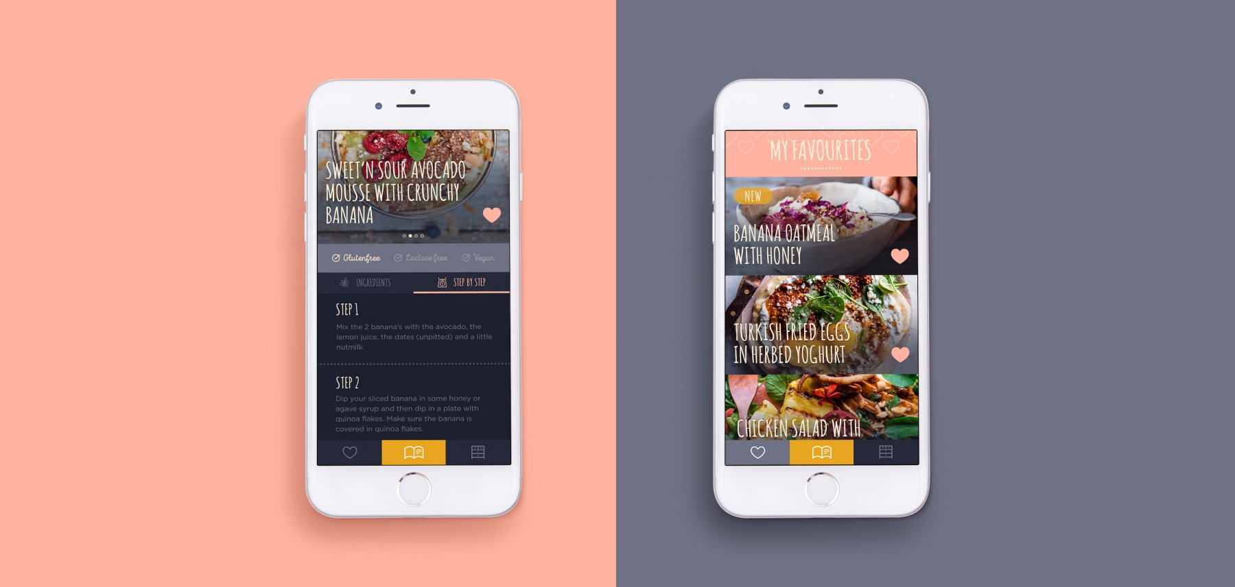 Screens van de Effortlessly Healthy app