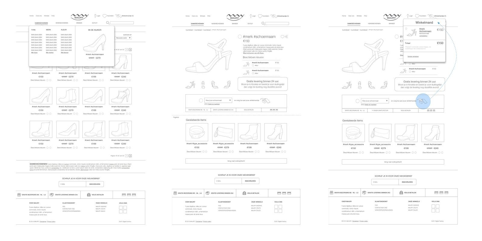 High fidelity wireframe